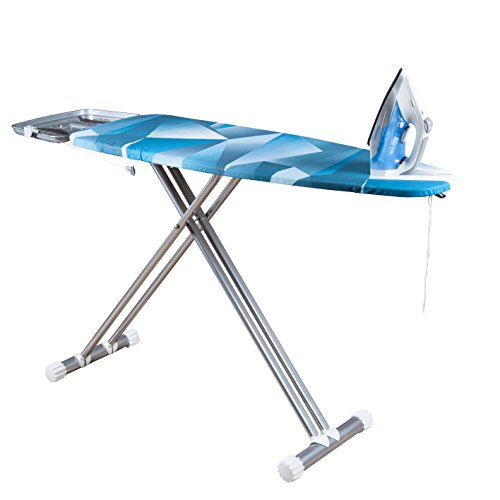 Viasonic Ultra Premium Ironing Board - Premium Felt Underlay - Solid Monoblock Surface Board - 100% Cotton Cover - Easy Fold Lever - Sturdy And Dependable - XL 49.5