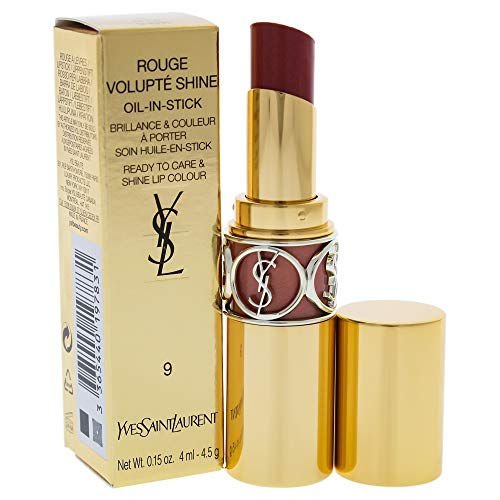Yves Saint Laurent Rouge Volupte Shine, No.9 Nude In Private, 0.15 Ounce
