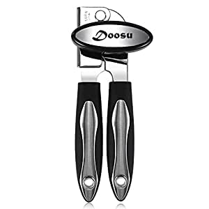 Can Opener Manual, U-Taste Good Grip Can Opener with Extra Sharp Blade, Heavy Duty Stainless Steel Can Opener