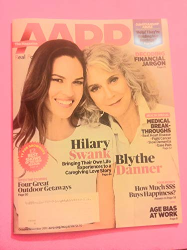 AARP October/November 2018 Hilary Swank/Blythe Danner for sale  Delivered anywhere in USA