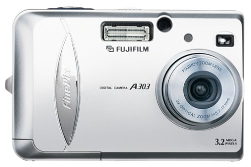 Fujifilm FinePix A303 3MP Digital Camera w/ 3x Optical - Pix Camcorder Movie