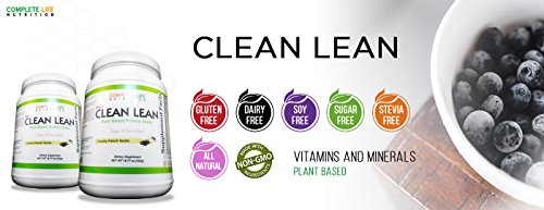 Clean-Lean-Chocolate-Weight-Loss-Shake-by-Complete-Life-Nutrition-Natural-Herbal-and-Vitamin-Pea-Protein-Meal-Replacement-and-Cleanse-Shake-Low-Carb-Use-Daily-For-Healthy-Women-Men-Diabetic