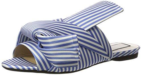 N°21 8283.1 - Sandalias con cuña Mujer Blau (BIANCO/AZZURRO)