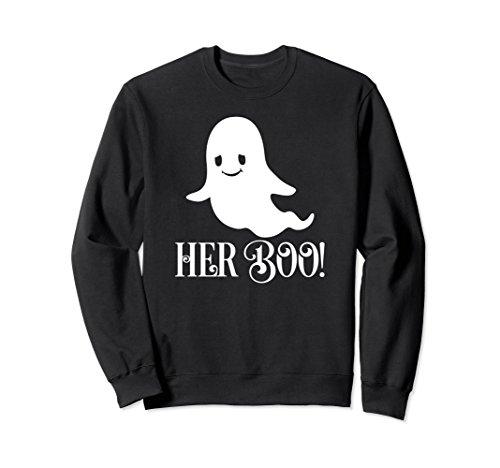 Her Boo Couples Cute Halloween Ghost Costume Sweatshirt -