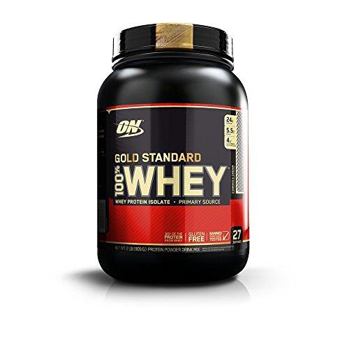 Optimum Nutrition Gold Standard 100% Whey Protein Powder, Cookies and Cream, 2 Pound