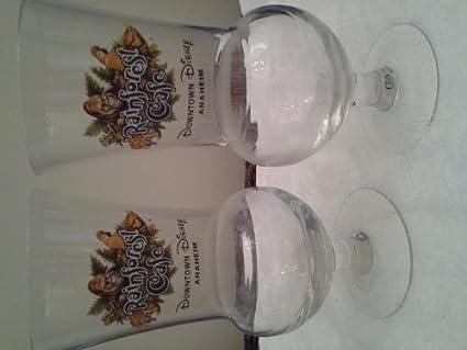 RAINFOREST CAFE ORLANDO HURRICANE COCKTAIL GLASS BRAND NEW IN BOX