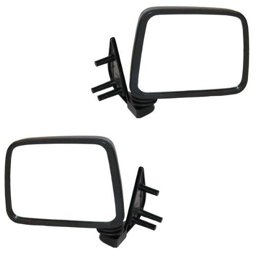97 Nissan Pickup Door Mirror - Koolzap For Manual Black Door Mirror Right Left Side SET PAIR D21 Hardbody Pickup Truck