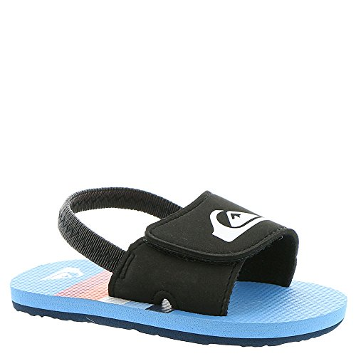 Quiksilver Youth Molokai Layback Flip Flop Sandal, Blue/Black/Red, 1 M US Infant