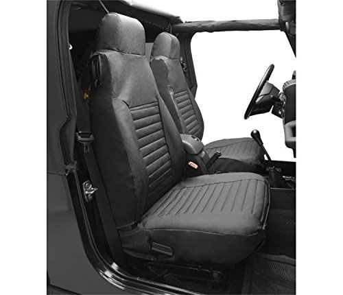 Bestop 29228-35 Black Diamond Front High Back Seat Cover Set for 2003-2006 2DR Wrangler & Unlimited (sold as pair) ()