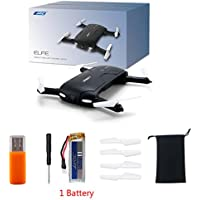 Rawuin New Foldable JJRC H37 6-Axis ELFIE Quadcopter WIFI 720P FPV 1 Battery Racing Drone With Camera RC Quadcopter Drone 6 Axis Rtf Remote Control Support to Connect Phone