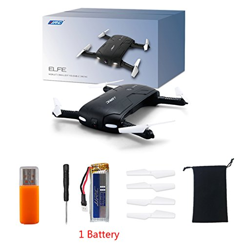 yournameI JJRC H37 Foldable 6-Axis ELFIE Quadcopter Drone with WiFi FPV 720P 1 Battery Camera Pocket Drone Mini Drone
