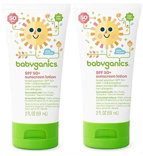 Babyganics Mineral Based Sunscreen - Spf 50+ - Fragrance Free - 2 Oz - 2 (Best Babyganics Sunscreen For Kids)