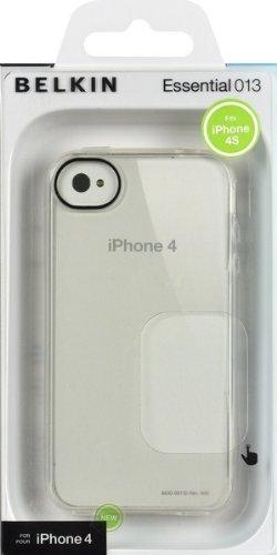 Belkin Essential 013 - Funda para móvil Apple iPhone 4S (resistente a rayones), transparente