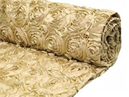 Champagne Satin Rosette Backdrop Fabric 2 yards by Posey Pillow