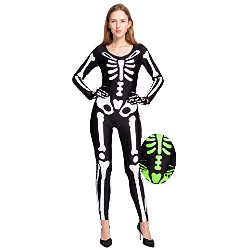 Unique Costumes Ideas For Women - Spooktacular Creations Skeleton Glow in The