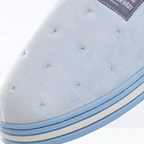 Peau Pour Bleu De Hommes Coton Maison Td La Au Atmosphère Chaussures Fourrure Approprié L'intérieur Garder Femmes Couple Et Green 35 Chaud Simple 37 À Pantoufles couleur Taille Amical qpwqTC1
