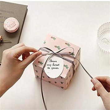 MKILJNH De Moda Cajas de Regalo Graceful Mini Cactus con Bowknot DIY Boxes: Amazon.es: Electrónica