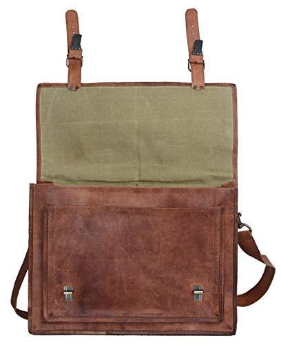 Komals Passion Leather 18 Inch Retro Leather Briefcase Vintage Laptop Messenger Bag FBA/_383402