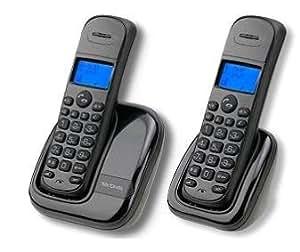 Mx Onda MX-TF1923 DUO - Teléfono Fijo Inalámbrico, compatible con DECT, pantalla LCD retroiluminada