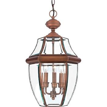 amazon com quoizel ny1179p newbury 3 light outdoor lantern pewter