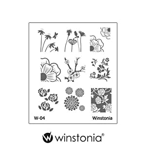 Amazon.com : Winstonia Nail Art Stamping Image Plate Series 1 - Floral
