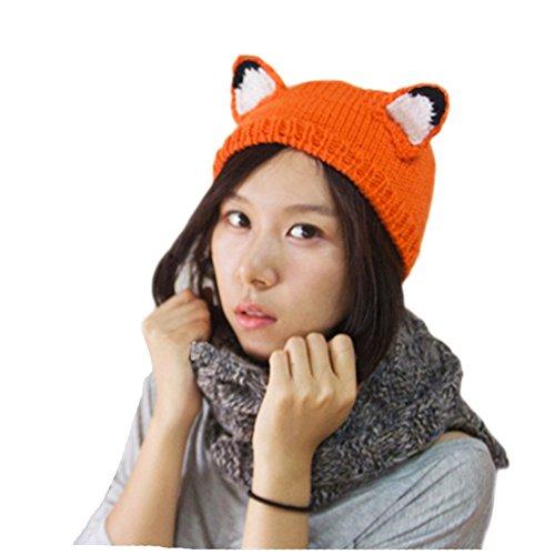 New Fashion Winter & Autumn Cute Cat Fox Ears Unisex Hand-cr