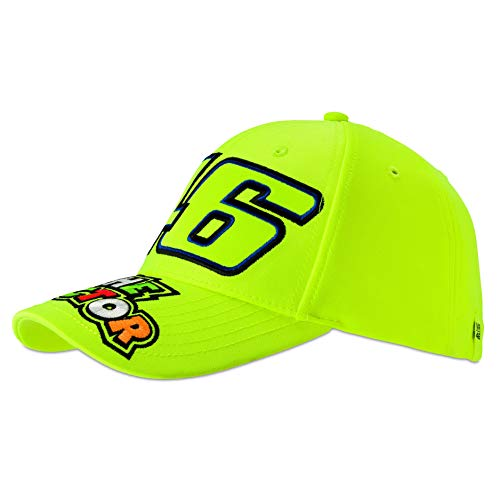 (VR46 Valentino Rossi 46 The Doctor Yellow Cap Adult Size Official Merchandise)