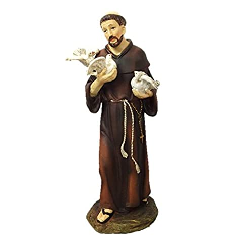 Giovanni Saint Francis of Assisi 8 Inch Figurine (St Francis Of Assisi Candle)