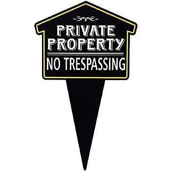 Amazon.com: Signs Authority - Cartel de metal para patio ...