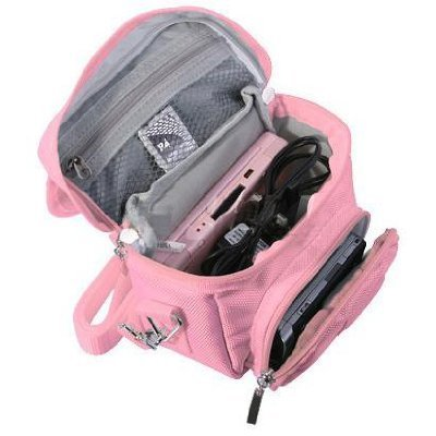 (Modern-Tech Pink Nintendo DS Lite/DSi/DSi XL/3DS Travel Bag Carry Case)