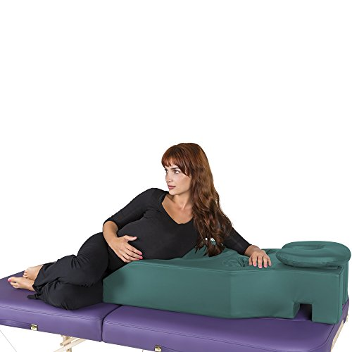 EARTHLITE Pregnancy Massage Cushion & Headrest - Full Body Pregnancy Bolster/Ideal After Breast Surgery & Lower Back Pain