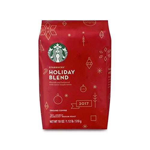 Starbucks Holiday Blend Medium Roast Ground Coffee  18 Ounce Bag