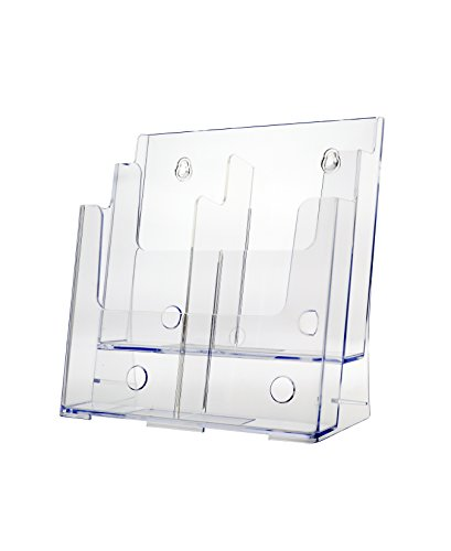 Marketing Holders Large 2 Tier 8.5 X 11 Brochure Holder Space Saver Literature Display Stands