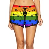 Rainbow Flag Indiana Bathing Suit Swimming Trunks for Women Quick-Dry Board Shorts