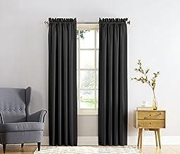 Sun Zero Barrow Energy Efficient Rod Pocket Curtain Panel, 54\