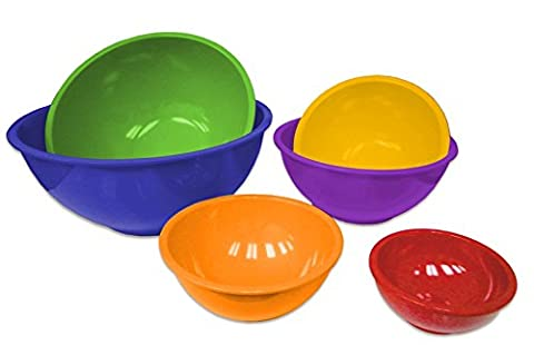 Gourmet Home Products 6-Piece Nested Melamine Mixing Bowls, Royal Blue - Sox Melamine Bowl
