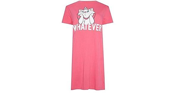 Primark Ladies Girls Womens Marie CAT Aristocats Pyjamas Pajamas Nightdress T Shirt Nightshirt UK S-XL (UK M 10-12) at Amazon Womens Clothing store: