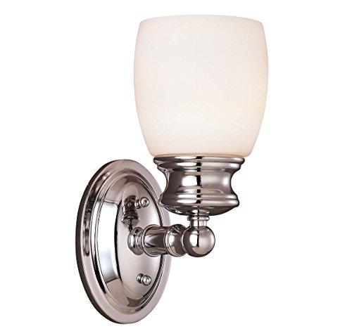 For The Bath Chrome Sconce - Savoy House 8-9127-1-11, Elise Bath 1-Light Sconce, Polished Chrome
