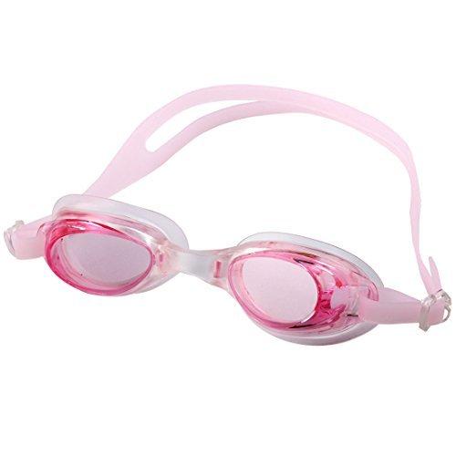 Deal Mux adulte Cadre en plastique réglable Lunettes de natation unterwasserbade Lunettes cas rose