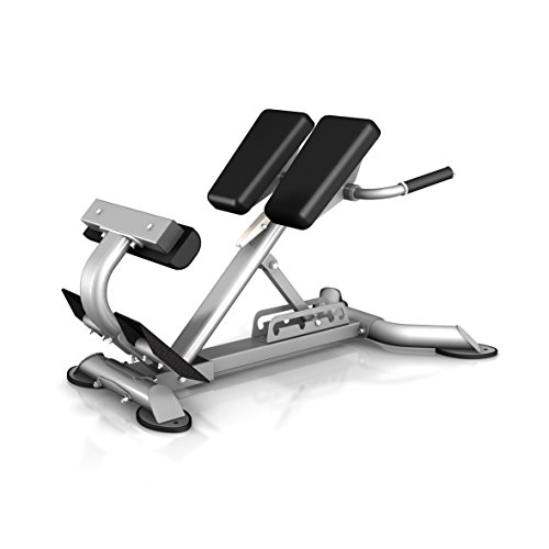 Bodykore Commercial Adjustable Hyper Extension Roman Chair- Lower Back/Hamstrings/Glute Machine- 5 Angles (1000lb Rated) CF2104