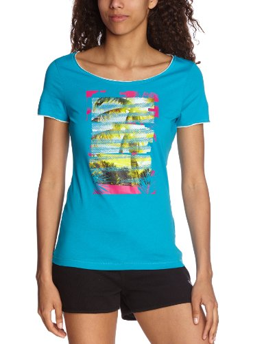 PUMA - Camiseta de running para mujer, tamaño S, color azul azul