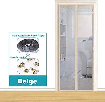 Dormitorio de la casa de verano cortina antimosquitos absorción magnética manos libres puerta blindada electromagnética mejorada, pantalla de la puerta cortina antimosquitos A1 W110xH210