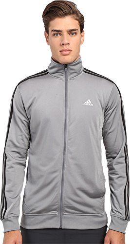 adidas Performance Men's Essential Track Jacket, Large, Grey/Black