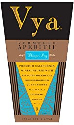 NV Quady Vya Whisper Dry Vermouth blend- White 375ML
