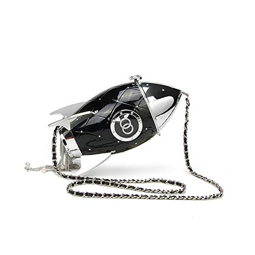 Strap Chain Womens Purse Evening Ladies Shape Crossbody Handbag Prom Shoulder Clutch Rocket Xiaoqin With Sparkly Bag Mini xXYaZwXnq