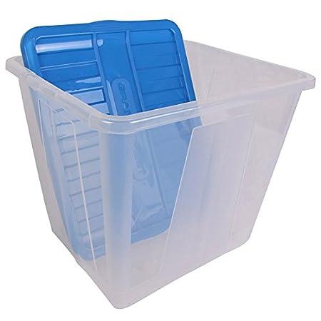 Grand Chest Storage Box 110L blue  sc 1 st  Amazon UK & Grand Chest Storage Box 110L blue: Amazon.co.uk: Kitchen u0026 Home