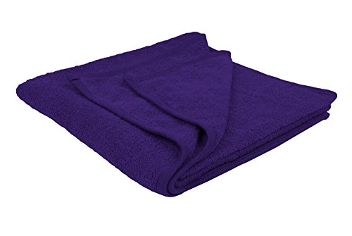 Puffy Cotton Large Bath Towel - 4 Pack Set - Oversize Bath Sheet (Hotel, Spa, Bath) Super Soft and Observant (Purple) by Puffy Cotton (Image #1)