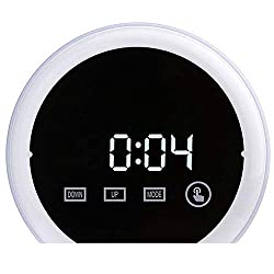 Alarm Clock for Heavy Sleep,MeiLiio LED Mirror Clock 3 Modes Brightness Adjustable Digital Clock LED Temperature Display Snooze Touch Electronic Clock With Thermometer for Bedroom Office,White
