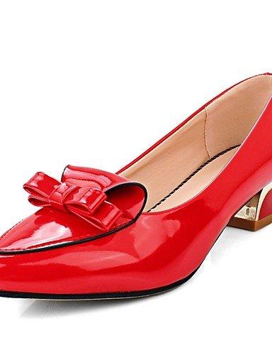 Eu41 Rojo Ggx cuero Eu40 Uk7 us9 Casual Mujer oficina 5 Red 10 Uk7 Patentado tacones confort Bajo Cn42 Y us9 5 tacón Cn41 Puntiagudos Gris Trabajo 8 Black negro OHRvrqOw