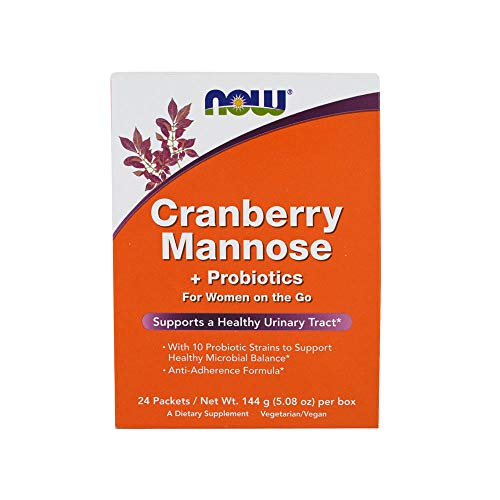 - NOW Supplements, Cranberry Mannose + Probiotics with a blend of 10 Probiotic Bacterial Strains, 24/Box
